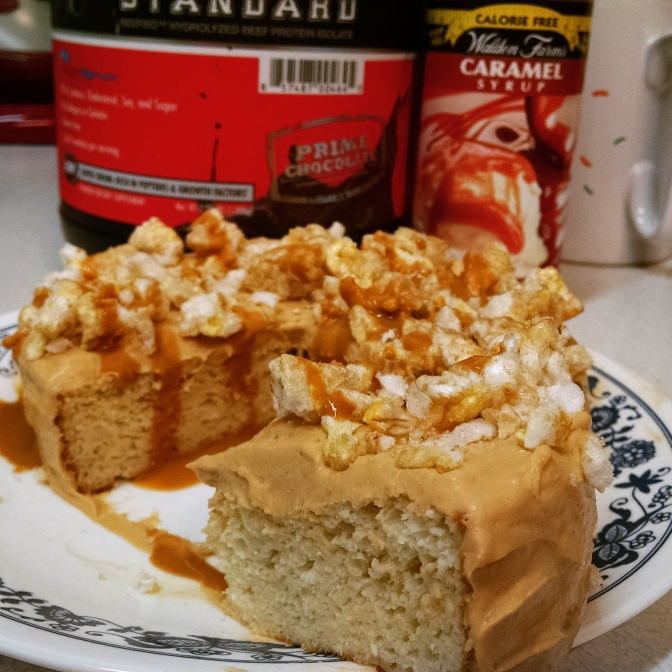 Vanilla Cake with a Salted Caramel Frosting