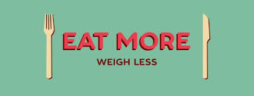 Eat more Food, Lose more weight! Save calories while dieting!